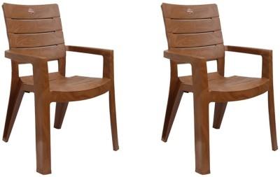 Cello Jordan Cafeteria Set Of 2 Chair,Sandalwood Brown Plastic Cafeteria Chair(Sandalwood Brown, Set of 2)