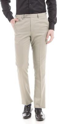 Arrow Slim Fit Men Beige Trousers