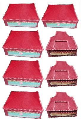atorakushon Parachute Combo of 5PC Saree Cover 3PC Blouse Cover P5S 3b Maroon atorakushon Garment Covers