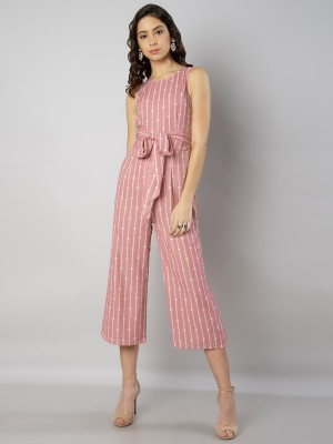 FabAlley Striped Women Jumpsuit at flipkart