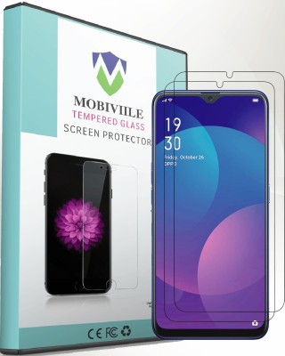 MOBIVIILE Tempered Glass Guard for Realme 5 PRO (6.3 Inch Screen size)(Pack of 2)
