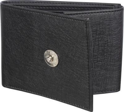 sskk Men Casual Black Artificial Leather Wallet(8 Card Slots)