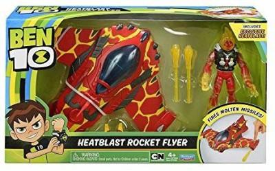 Ben 10 BEN10 Heatblast Rocket Flyer Vehicle wFigure(Multicolor)