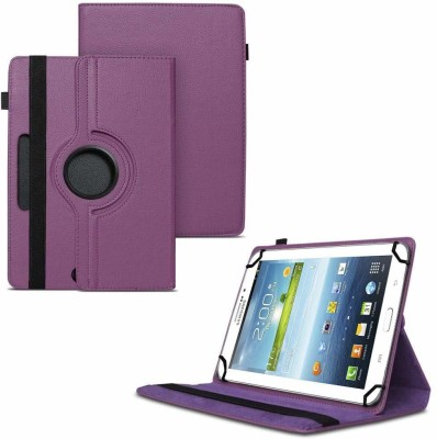 TGK Flip Cover for Samsung Galaxy Tab 3 7.0 inch GT-P3200 GT-P3210 Universal Case with 3 Camera Hole(Purple)