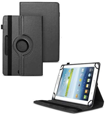 TGK Flip Cover for Samsung Galaxy Tab 3 7.0 inch GT-P3200 GT-P3210 Universal Case with 3 Camera Hole(Black)