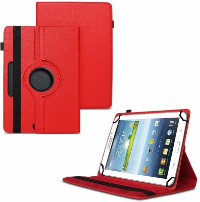 TGK Flip Cover for Samsung Galaxy Tab 3 7.0 inch GT-P3200 GT-P3210 Universal Case with 3 Camera Hole(Red)