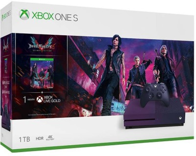 Microsoft Xbox One S 1 TB with Devil May Cry 5 Deluxe Edition(Gradient Purple)