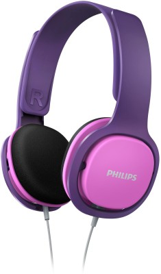 Philips 2300 Headphone(Pink, Grey, In the Ear)