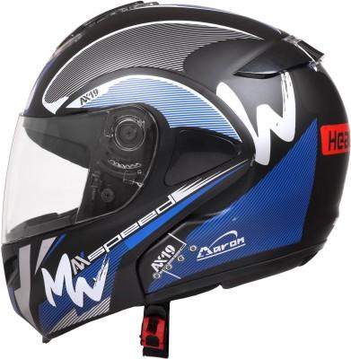 HEADFOX SMART BLUETOOTH Motorbike Helmet(Blue & black)