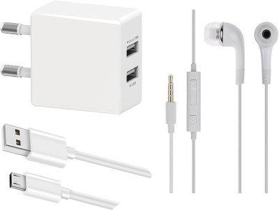 OTD Wall Charger Accessory Combo for Tecno Spark Power 2 Air, Titan T54, TP-LINK Neffos C5, TYMES Y5DT(White)