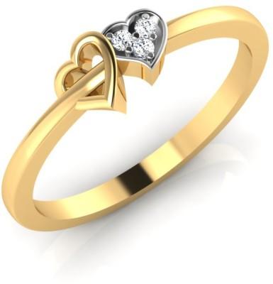 IskiUski Couple 18kt Swarovski Crystal Yellow Gold ring IskiUski Rings