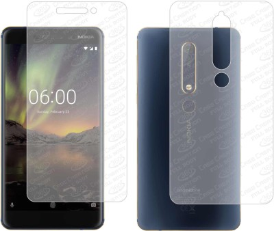 Case Creation Front and Back Screen Guard for Nokia 6(Pack of 2)