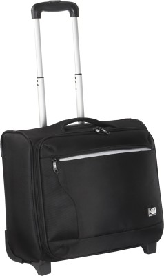 NASHER MILES Wall Street 2 Wheel Polyester 39 Liters Black Laptop Trolley/Travel Bag Expandable Cabin Luggage   16 inch NASHER MILES Suitcases