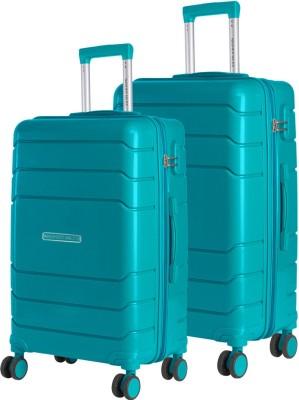 Nasher Miles Nasher Miles Lisbon Expander Hard-Sided Polypropyelene Luggage Set of 2 Dark Green Trolley Bags (65 & 75 Cm) Check-in Luggage - 28 inch(Green) at flipkart