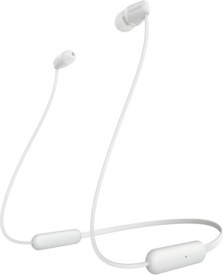 Sony WH-C200 Wireless Bluetooth Headphones (White)