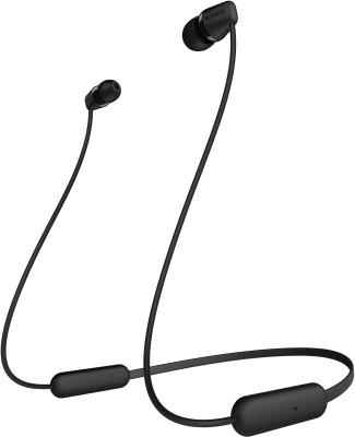Sony WH-C200 Wireless Bluetooth Headphones (Black)