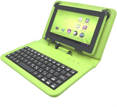 FU4 09 Keys with Numeric Keys Silicone Rubber Waterproof Flexible Foldable Wired USB Laptop Keyboard (Green) Wired USB Laptop Keyboard(Green)