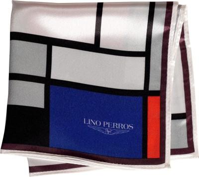 Lino Perros Printed Satin Blend Pocket Square