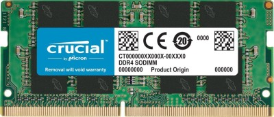 CRUCIAL 4GB DDR4-2400 SODIMM DDR4 4 GB (Dual Channel) Laptop DRAM (CT4G4SFS824A)(Green)