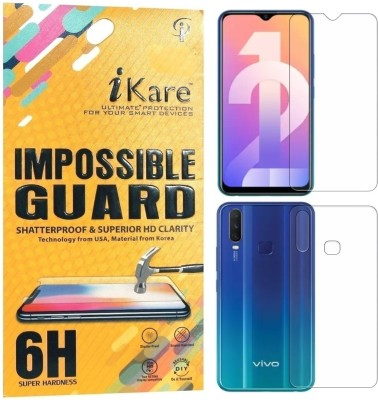 iKare Front and Back Screen Guard for Vivo Y12(Pack of 2)