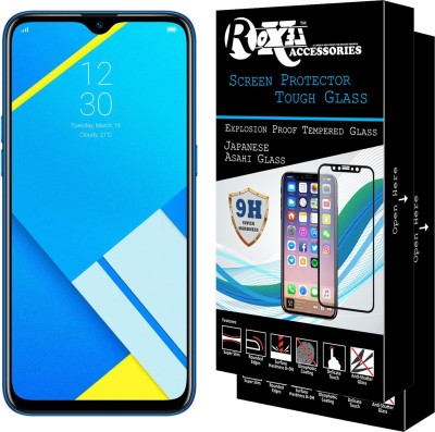 CRodible Back Cover for Realme C2 (Diamond Black, 32 GB)(3 GB RAM)(Marble Back Case {Toughened Glass + Tpu Bumper Case} Blue, Grip Case)