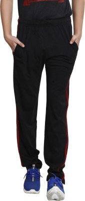 TT Solid Men Black Track Pants