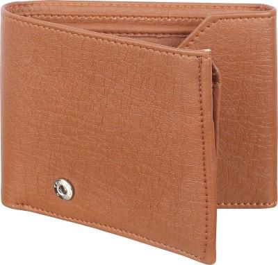 sskk Men Casual Tan Genuine Leather Wallet(2 Card Slots)
