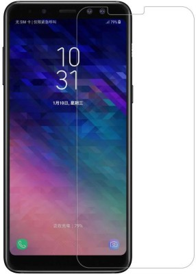 MudShi Tempered Glass Guard for Samsung A8plus 2018(Pack of 1)
