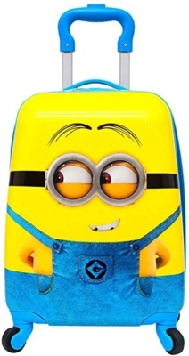D Paradise Minion 18 inch Travel Suitcase for Kids Trolley Bag Cabin Luggage   18 inch