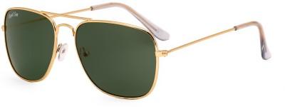 Royal Son Rectangular Sunglasses(Green)