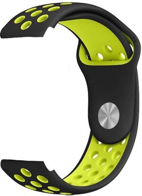 ACUTAS 20MM Classic Silicone Strap Band For Samsung Galaxy 42mm R810 Gear Sport Smartwatch R600 Garmin Vivomove HR Garmin VivoActive 3 20 mm Smart Watch Strap Watch Strap(Black - Yellow)