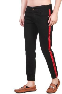 Alvis9 Slim Men Black Jeans