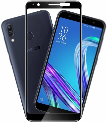 SHRINO Edge To Edge Tempered Glass for Shrino 6D Tempered Glass for Asus ZenFone Max Pro M1 with 9H Hardness Edge to Edge Screen Protector, Full Glue, Anti Scratch, Dust Proof (Black- Ultra Shine)(Pack of 1)