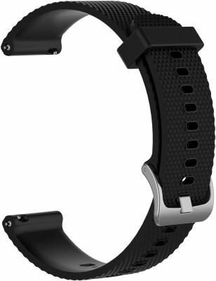 ACUTAS 20MM Classic Silicone Strap Band For Samsung Galaxy 42mm R810 Gear Sport Smartwatch R600 Garmin Vivomove HR Garmin VivoActive 3 20 mm Smart Watch Strap Watch Strap(Black)