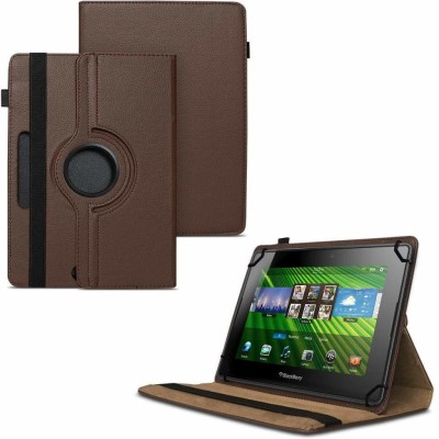 TGK Flip Cover for BlackBerry PlayBook 7 inch Tablet /360 Degree Rotating Universal Case With Three Camera Hole(Brown)