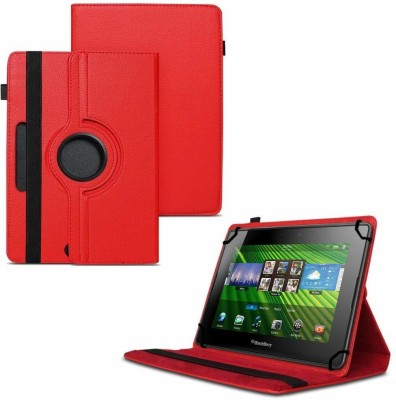 TGK Flip Cover for BlackBerry PlayBook 7 inch Tablet /360 Degree Rotating Universal Case With Three Camera Hole(Red, Cases with Holder)