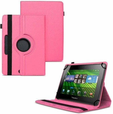 TGK Flip Cover for BlackBerry PlayBook 7 inch Tablet /360 Degree Rotating Universal Case With Three Camera Hole(Hot Pink, Cases with Holder)