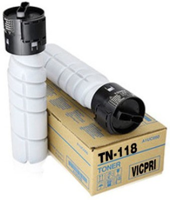 VICPRI Print Cartridge TN 118 For Konica Minolta Bizhub 195, 215,185  Pack of 2  Black Ink Toner VICPRI Toners