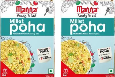 Manna Millet Poha 180 g(Pack of 2) at flipkart