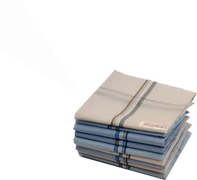Your's Favourite Full Size (48*48cm) Supremo Men's Cotton Colour Handkercheif -10 Handkerchief(Pack of 6)