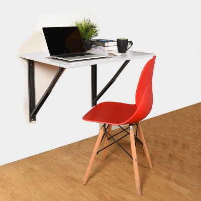 COMFOLD Table for Laptop/Study/Writing/dining Recommended Wall Table for Laptop for Office/Home/ Portable Desk Lap   Kids Study Wall Desk Folding   Best Study/laptop Wooden Tables - L (23.62/ Inch/ 60cm) H(15.74Inch /40Cm) Engineered Wood Study Table(Wall Mounted, Finish Color - Frosty White)