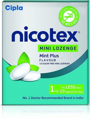 Cipla Nicotex Mini Lozenge- 1 mg (9x10 Pieces, Mint Plus Flavour) 24 hour patch Smoking Patch(Pack of 9)
