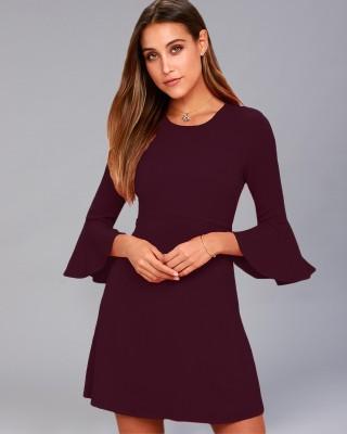 Addyvero Women A line Maroon Dress