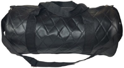 Ozimo Synthetic/Artificial leather Black Gym, Travel, Cabin, Sports Bag Gym Bag(Black)