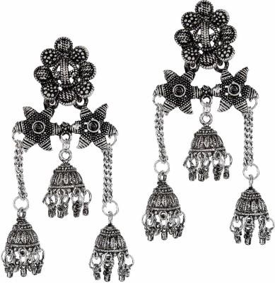 Shining Diva Latest Stylish Party Wear Traditional Jhumki Earrings Alloy Jhumki Earring