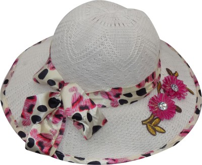 VERBIER hats(White, Pack of 1)