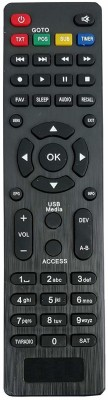LipiWorld Setup Box Remote Control Compatible for  HD Solid Remote Controller(Black)