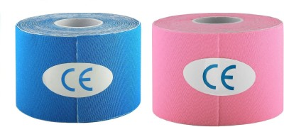 FACTO POWER (Blue and Pink Color Kinesiology Tape (100% Water Resistant) Knee, Calf & Thigh Support(Blue, Pink)
