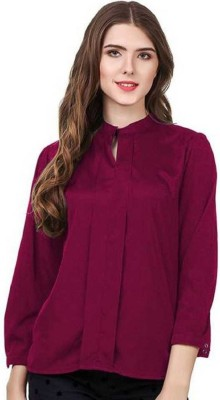 AE Fashion Party Full Sleeve Solid Women Maroon Top