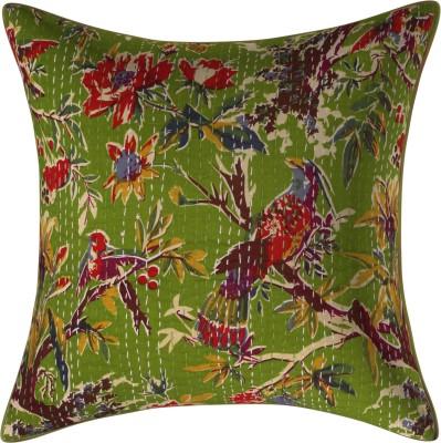 JGS Floral Cushions & Pillows Cover(40 cm*40 cm, Green)